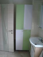 """Шкаф для ванной МДФ """"Салатовый и Белый"""""""