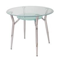 Стол круглый стеклянный с матовой окантовкой