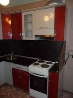 "Кухонный гарнитур ""Красный и Серый металлик"" 2.1х1.5 метра"
