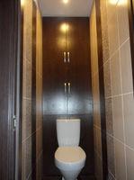 """Шкаф для ванной встроенный """"венге темный"""""""